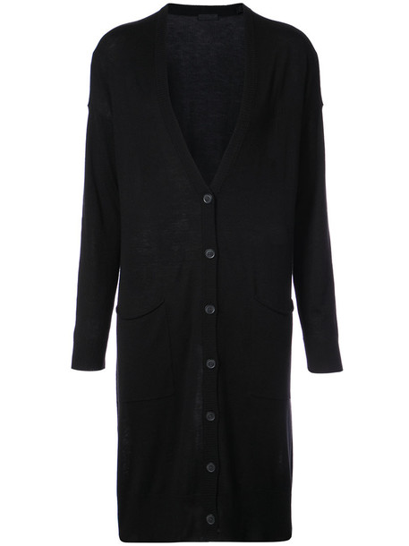cardigan cardigan long women black silk wool sweater