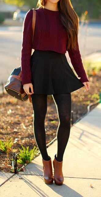 sweater cardigan skirt