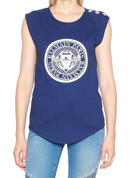 Balmain t-shirt shirt t-shirt blue top
