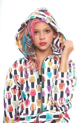 jacket nail polish clothes sweatshirt
