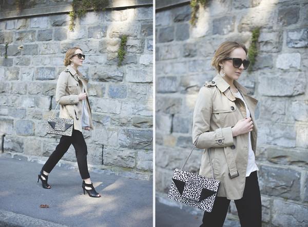 tiphaine's diary coat shoes jewels t-shirt pants bag sunglasses