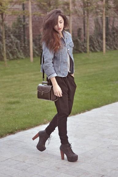 pants black harem pants harem bottoms trousers baggy trousers