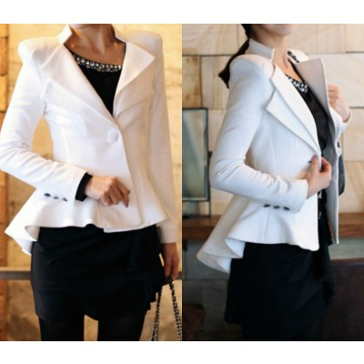 Shrug slim dovetail women's double collar jacket suit