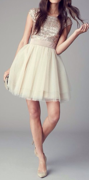 dress short dress glitter dress white dress