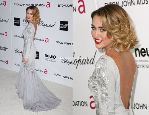 dress grey dress miley cyrus long prom dresses opened back dress