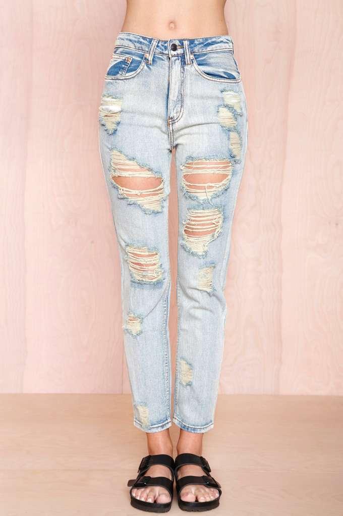 Torn Up Boyfriend Jeans