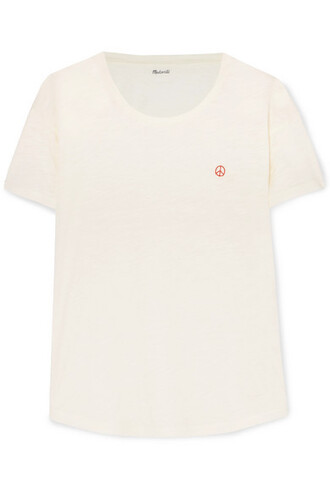 t-shirt shirt embroidered cotton top