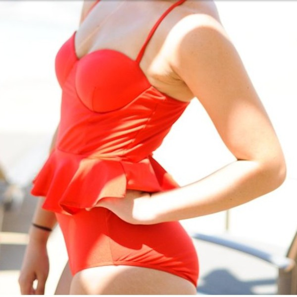swimwear style fashion coral