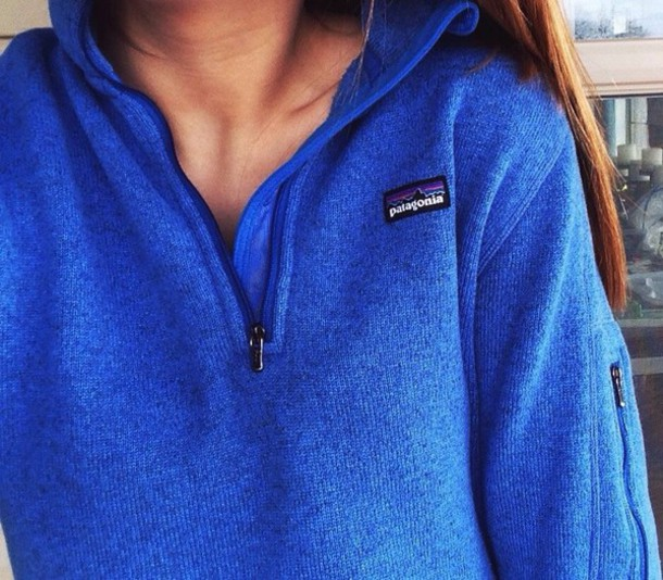 sweater style sportswear sporty cute blue shirt t-shirt shirt warm knitted sweater patagonia hiking shoes