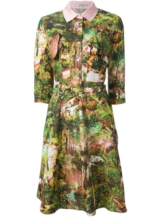dress carven tropical dress poplin dress