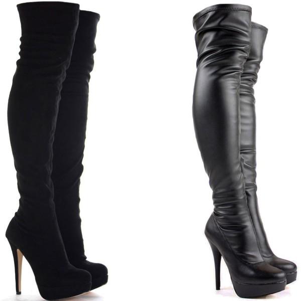 best sneakers 0662f 6b4b1 Louise Xi 120 BLACK Suede - Women Shoes - Christian Louboutin