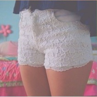shorts white lace shorts lace shorts