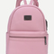 Pink pebbled faux leather backpack -shein(sheinside)