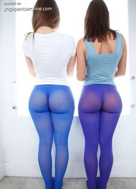 pants blue purple tights leggings yoga pants sheer sexy opaque pantyhose