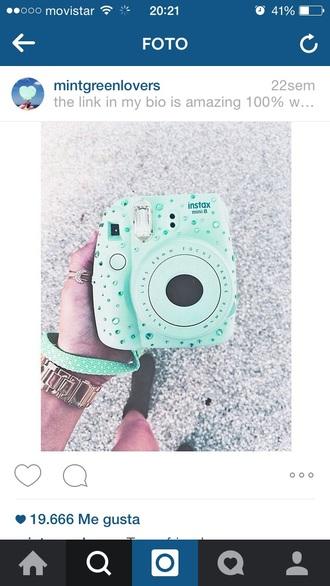 swimwear fujifilm instax mini 8 mint turquoise camara cristals blue