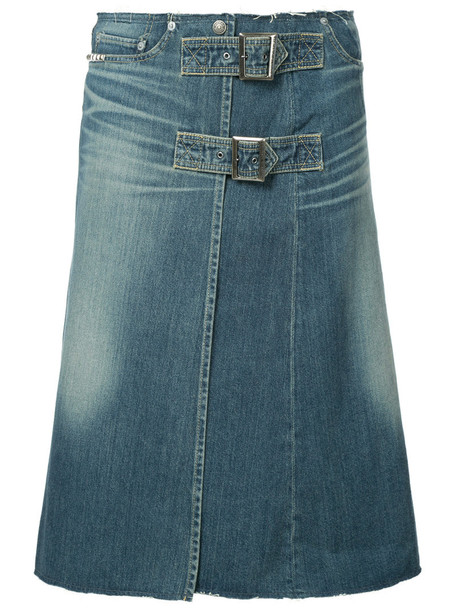 Hysteric Glamour skirt denim skirt denim buckles women cotton blue