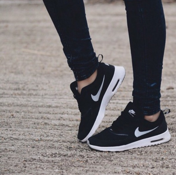 Beautiful Shoes Nike Black White Run Roshe Runs Tumblr Black White Volt Women39s