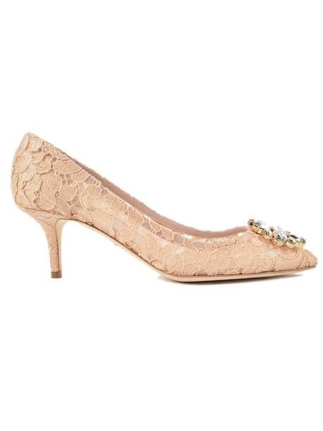 Dolce & Gabbana lace silk shoes