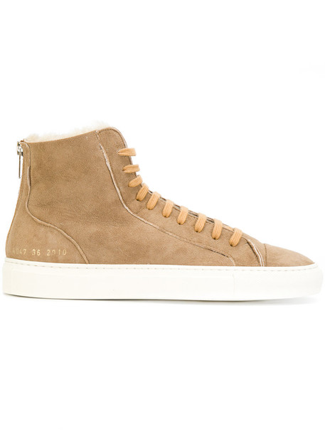 Common Projects high women sneakers brown shoes