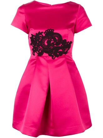 dress satin dress women lace wool purple pink satin