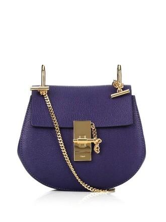 cross mini bag leather blue