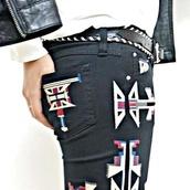 pants,aztec,patterned pants