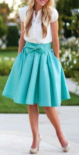 skirt bow something navy