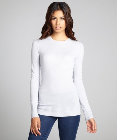 Hayden pink lavender cashmere knit crewneck sweater | BLUEFLY up to 70% off designer brands