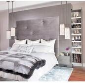 home accessory,bedding,headboard,shoe closet,luxury,grey,storage