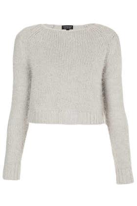 Knitted Fluffy Crop Jumper- Topshop