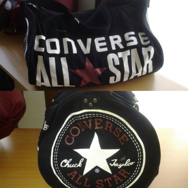 bag, converse, chuck taylor all stars, black Wheretoget