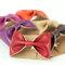 Black bow bracelet cuff faux leather vegan tie bowtie scarf wide womens bridesmaid bridal