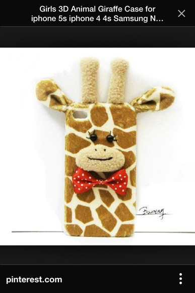 cute soft phone case phone case iphone 4 case giraffe bowtie