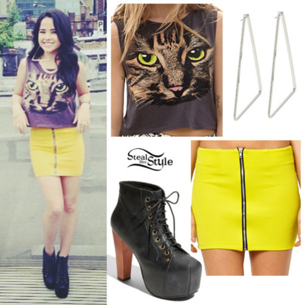 shirt becky g shoes skirt cats cute swag beautiful