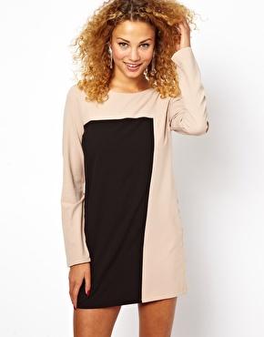 Glamorous colourblock dress at asos