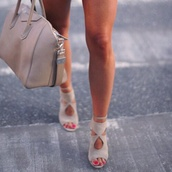 shoes,heels,grey,bag,colorful,brand,nude high heels,nude,stilettos,gorgeous,nude heels,beige,high heels,sandals,want now,sooo prettyyy,style,perfecto,cream high heels,sexy shoes,booties,pastel,wow