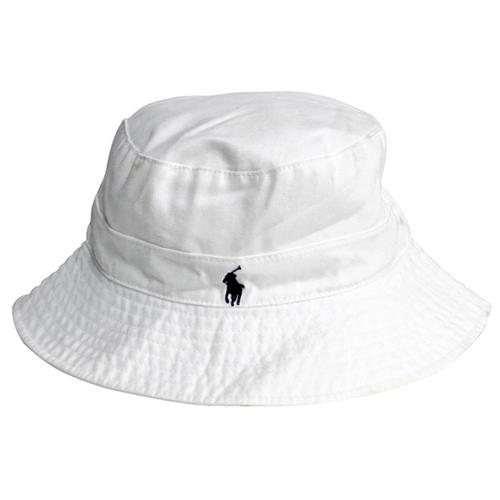 Polo ralph lauren white cotton bucket hat in small