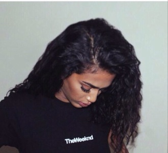 t-shirt the weeknd black graphic tee