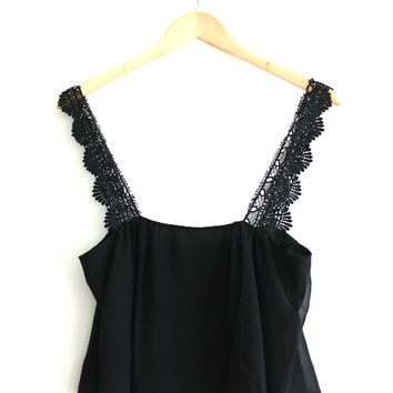 Stone Cold Fox Black Crop Boho Cami — Bib   Tuck on Wanelo