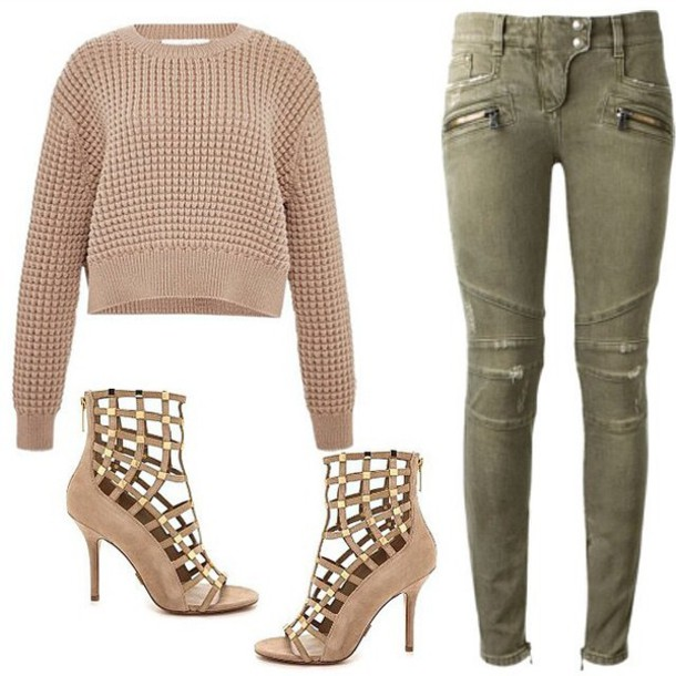 sweater sweater top jeans shoes