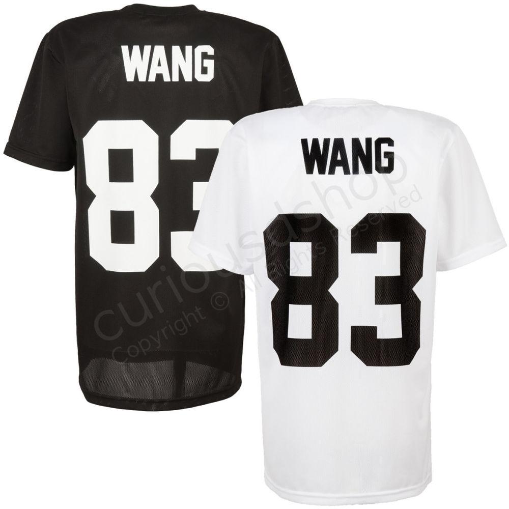 New wang 83 print back number short sleeve mesh t