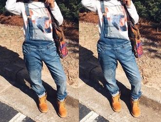 romper overal jumper jeans
