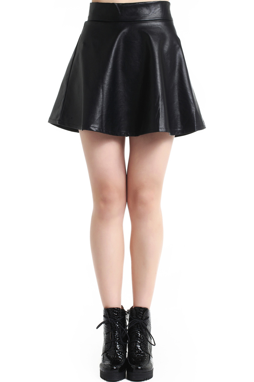 ROMWE | Pleated High Waist Black Slim Skirt, The Latest Street Fashion