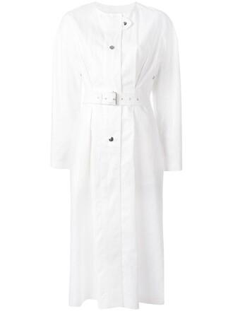 coat women white cotton