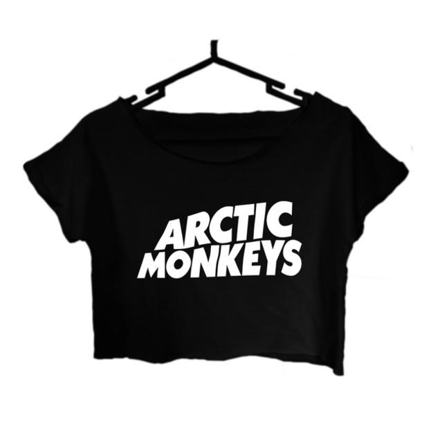 8e5fc94a2 top, arctic monkeys, arctic monkeys tee, arctic monkeys t shirt ...