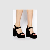 high-heeled sandals,platform sandals,platform shoes,black,sandals