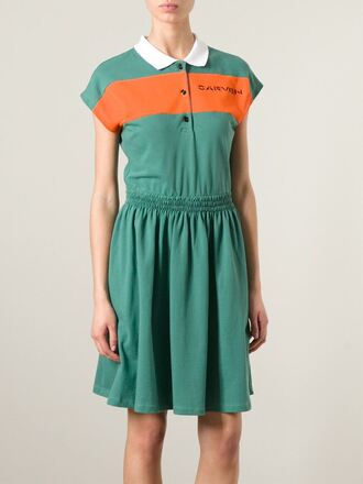 dress logo polo shirt dress carven