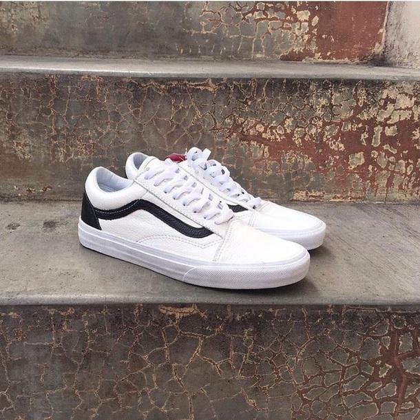shoes vans old skool leather