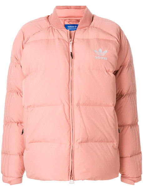 Adidas jacket down jacket women cotton purple pink