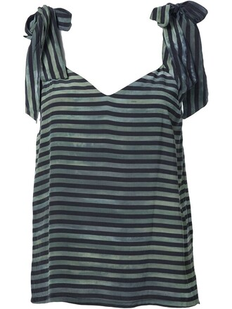 top striped top green
